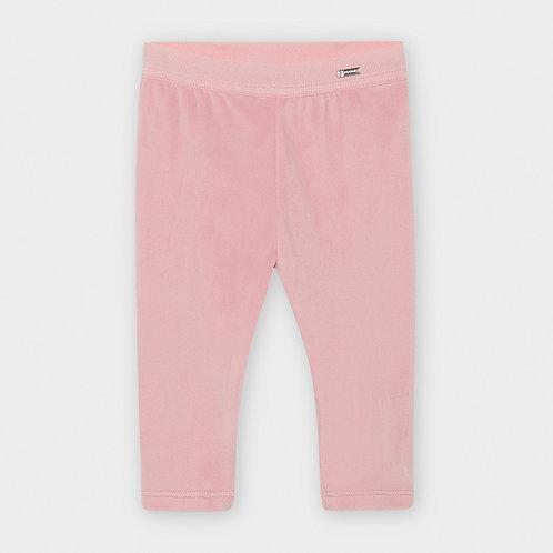 Mayoral Girls Basic velvet leggings in Rose