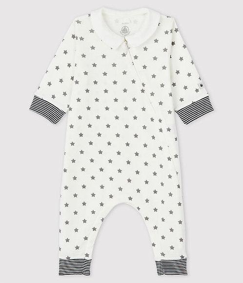 Petit Bateau-Babies' Starry Footless Organic Cotton Sleepsuit