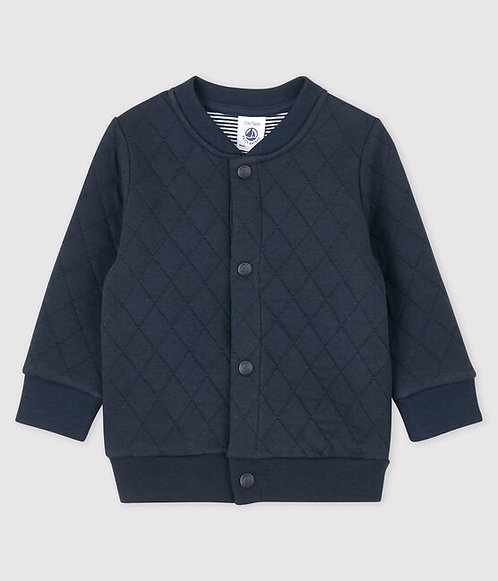 Petit Bateau-Baby Boys' Quilted Tube Knit Cardigan