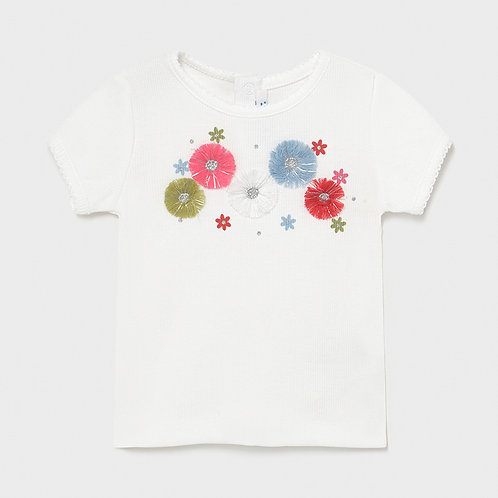 Mayoral Short sleeved canale t-shirt for baby girl