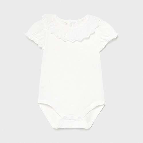 Mayoral Ruffle neck body suit for baby girl