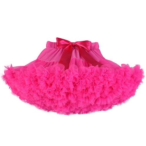 Hula Pettiskirt Tutu Skirt: Bright Pink