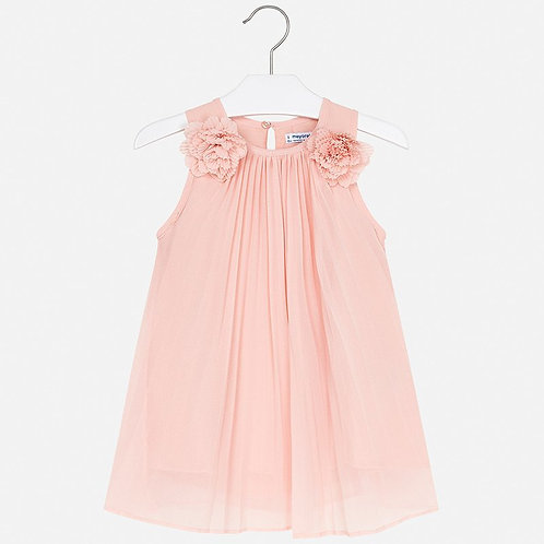 Mayoral Girl Pleated dress in peach