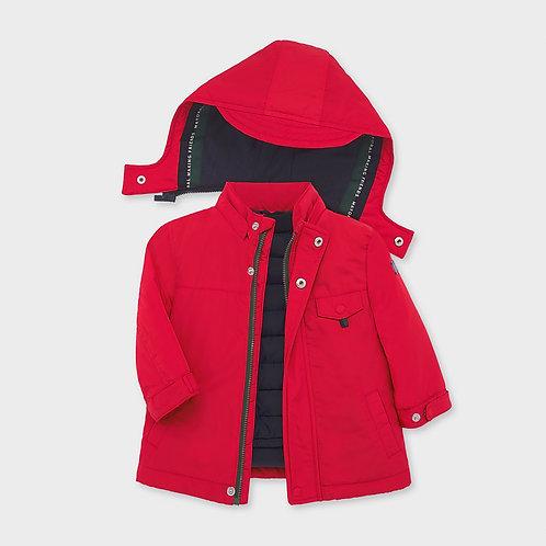 Mayoral Boys Reversible coat in Red