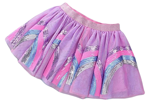 Hula Lula Sequin Girls Skirt in Pink