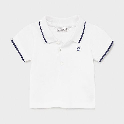 Mayoral Basic short sleeved polo in White