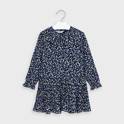 Mayoral Girls Heart chiffon dress in Navy
