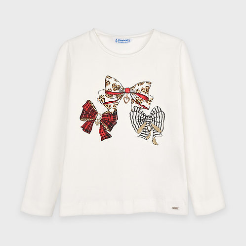 Mayoral Girls L/s graphic t-shirt in red