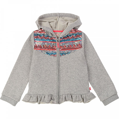 BILLIEBLUSH Hooded fleece cardigan