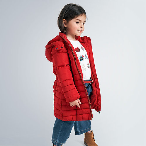 Mayoral Girls Long coat for girls in red