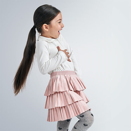 Mayoral Girls Pleated skirt in Blush