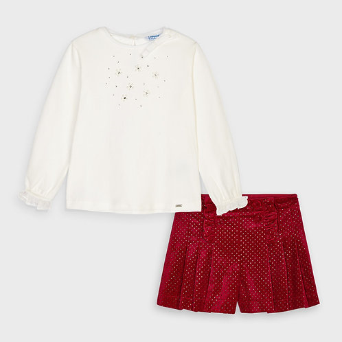 Mayoral Girls two piece Set in Red