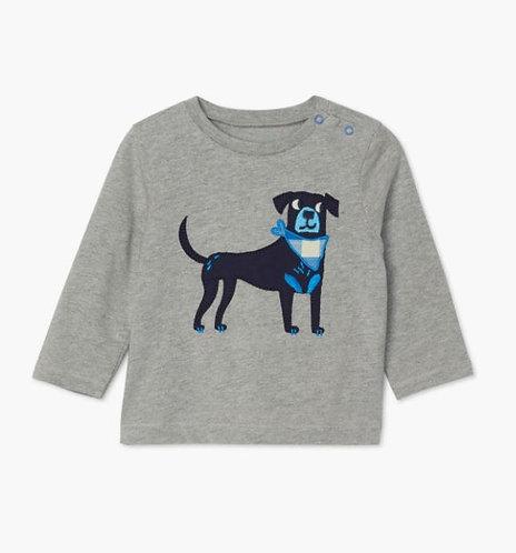 Hatley Preppy Pup Long Sleeve Baby Tee