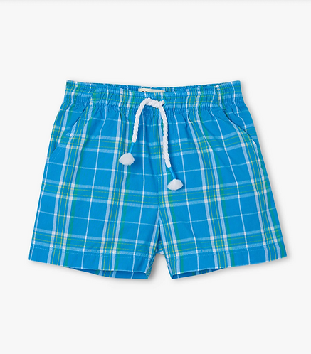 Hatley blue plaid shorts