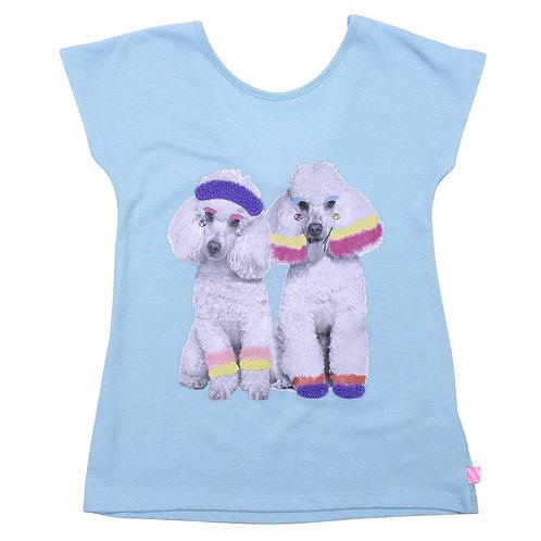 BILLIEBLUSH Cotton t-shirt with Dog print