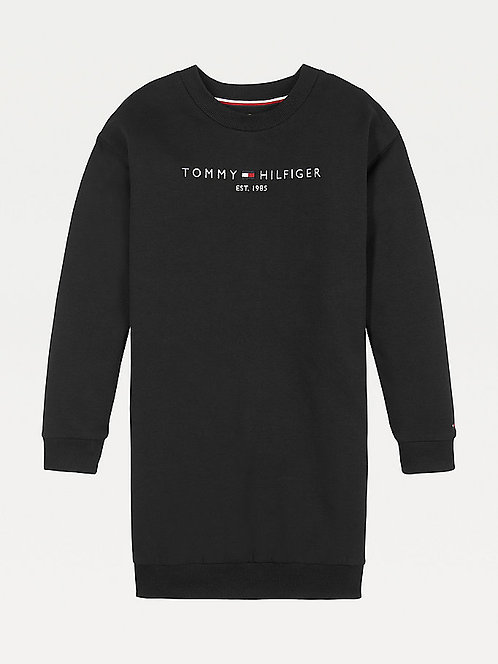 Tommy Hilfiger Essential Sweatshirt Dress: black