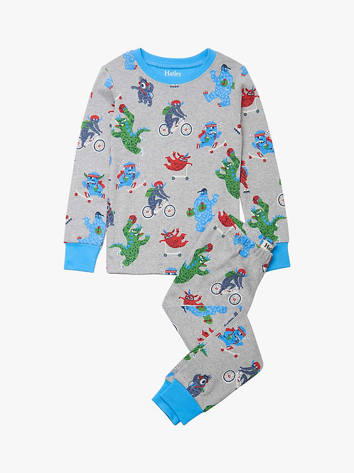 Hatley Back To School Monsters Organic Cotton Pajama Set