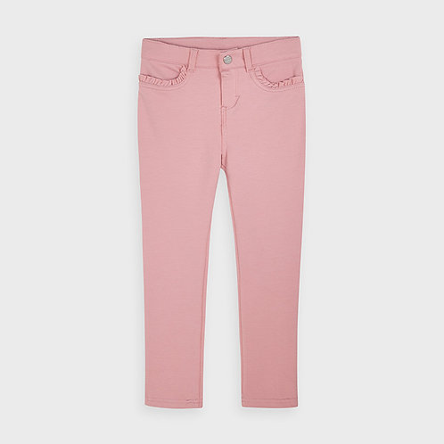 Mayoral Girls Fleece basic trousers in Blush