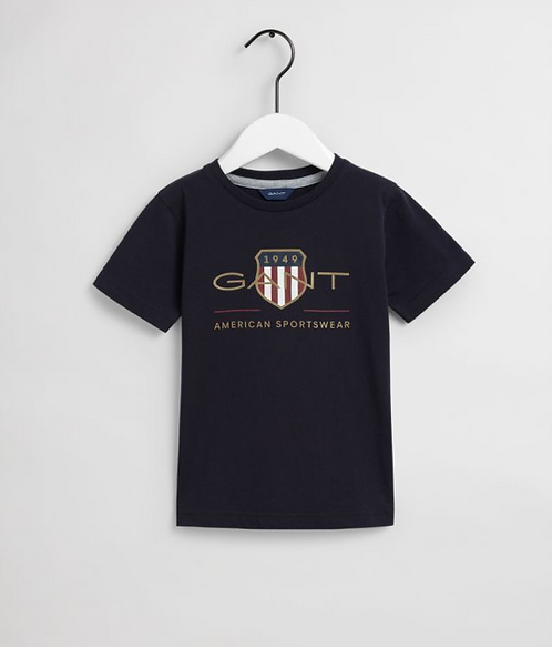 GANT Kids Archive Shield T-Shirt-Navy
