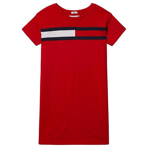 Tommy Hilfiger Red Flag Logo Jersey Dress