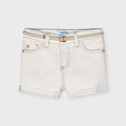 Mayoral Basic twill shorts Natural