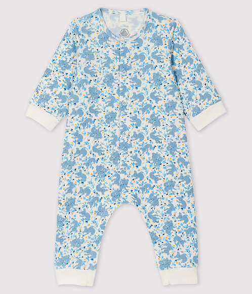 Petit Bateau Baby Boys' Ribbed Koala Print Jumpsuit