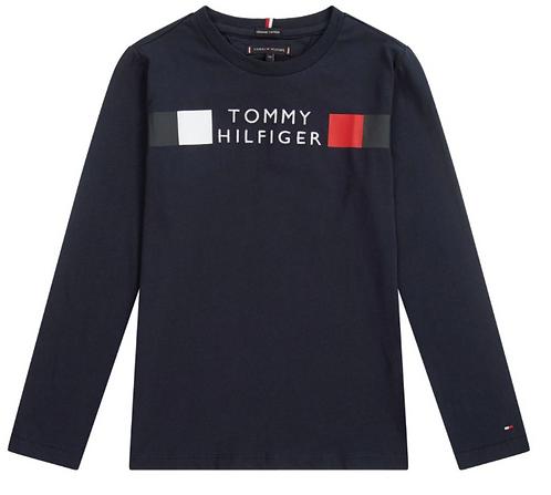 Tommy Hilfiger Global Stripe Long Sleeve Top:Navy
