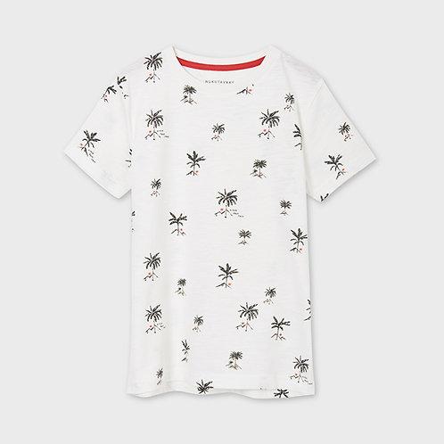 Mayoral printend short sleeved t-shirt Natural