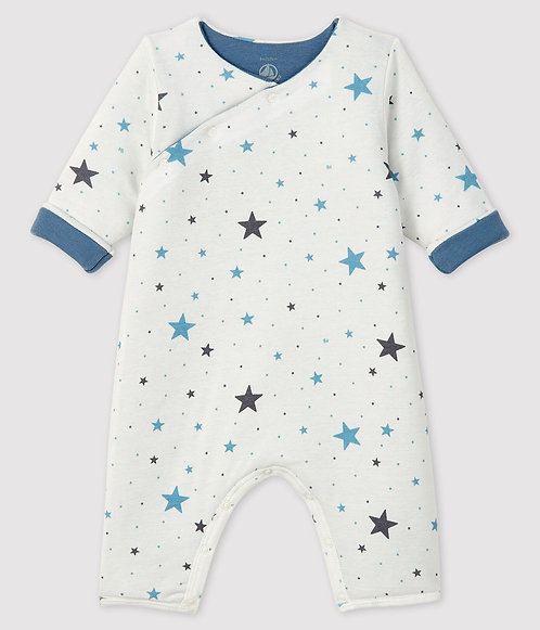 Petit Bateau Baby's Long Ribbed padded Jumpsuit