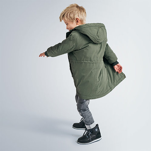 Mayoral Boys Faux fur lined parka for boys