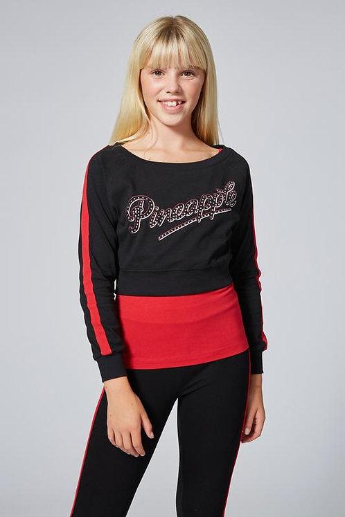 Pineapple Dancewear Long Sleeve Double Layer Set in Red/Black