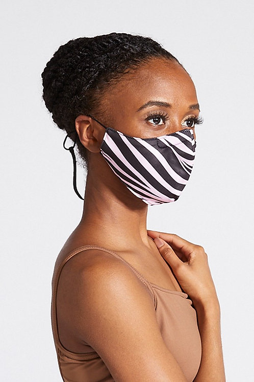Bloch B-Safe  Adult Lanyard face Mask Zebra