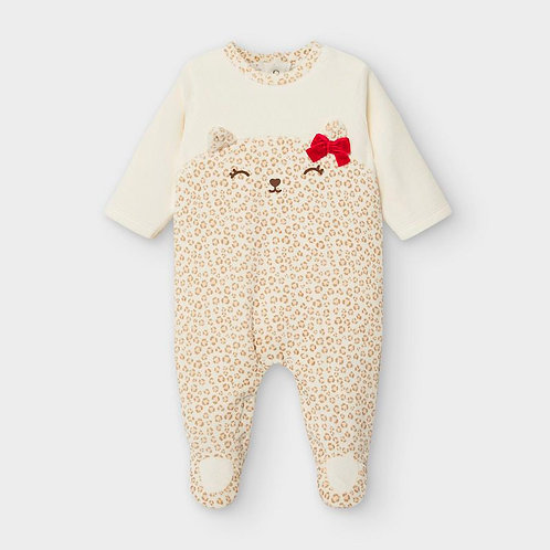 Mayoral Baby Grow in Beige