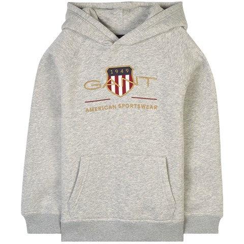 GANT Boys Archive Shield Hoodie-grey