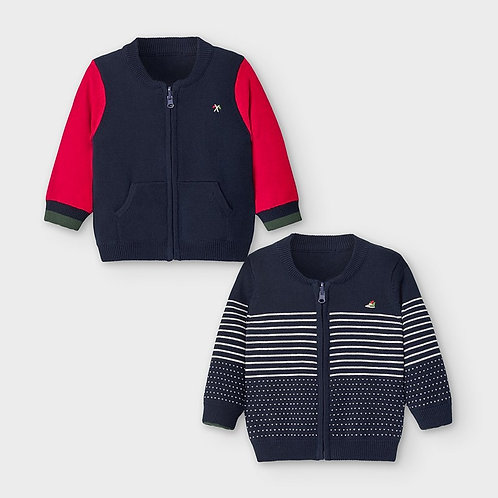 Mayoral Boys Reversible pullover in blue