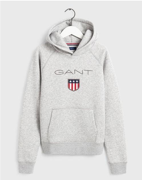 GANT Shield Hoodie Style-Clear Grey
