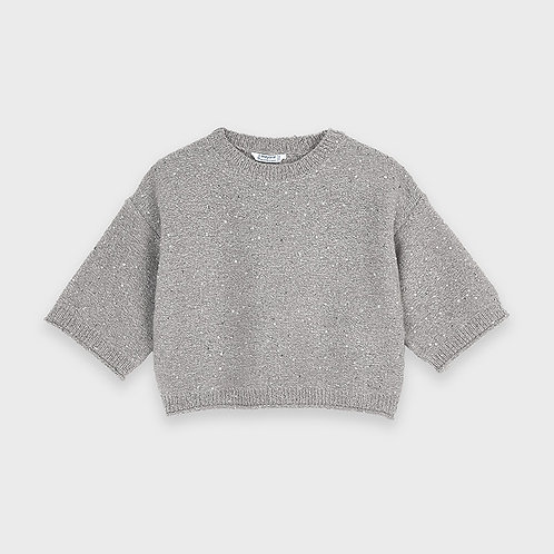 Mayoral Girls Sequins sweater in Chromium