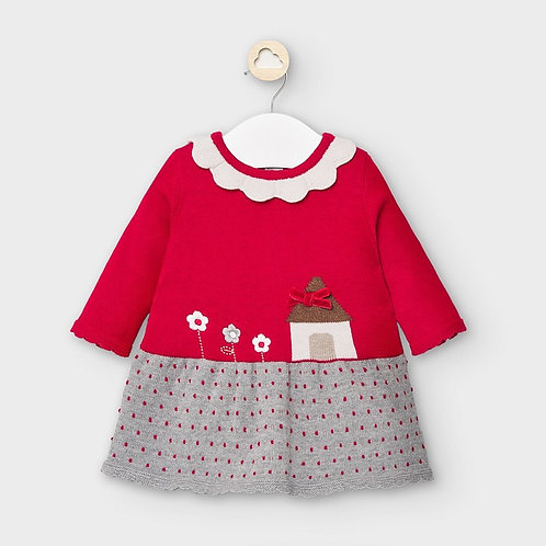 Mayoral Knit dress in Velvet