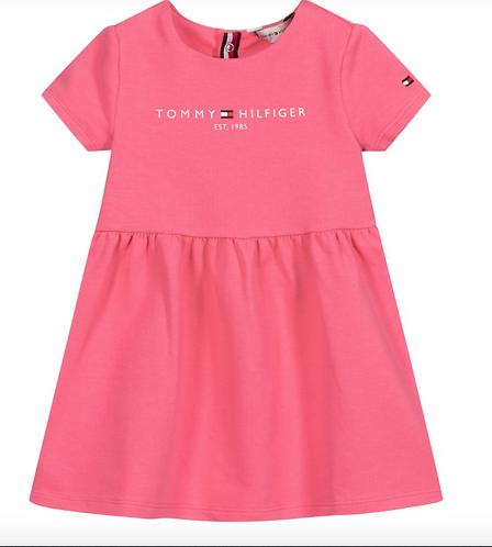 Tommy Hilfiger Girls Pink Cotton Dress