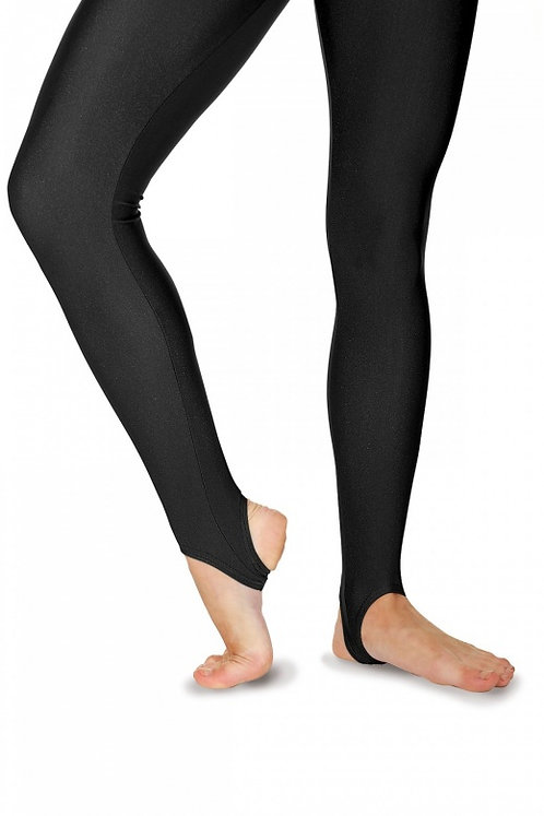 Nylon/Lycra Stirrup Tights-Black