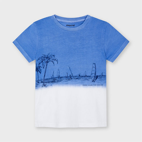 Mayoral shorts sleeved dip dye t-shirt Waves
