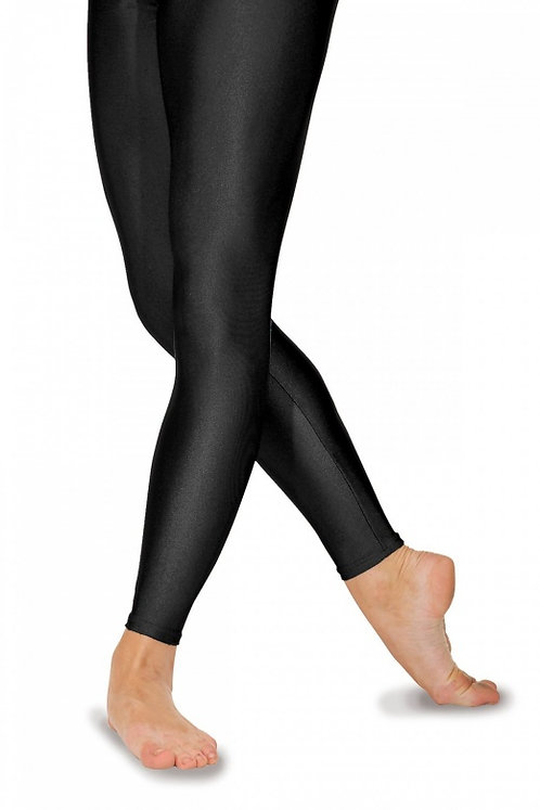 Footless Nylon/Lycra Tights-Black