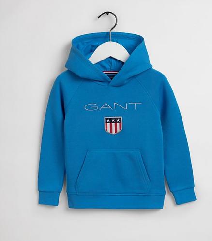 GANT Shield Hoodie Style-Clear Blue