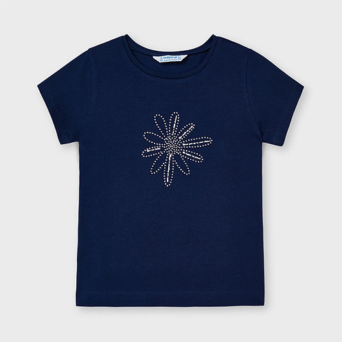Mayoral ECOFRIENDS basic t-shirt for girl in navy