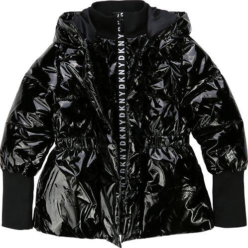 DKNY Coated waterproof jacket in black