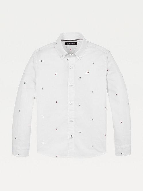 Tommy Hilfiger Monogram Print Oxford Shirt