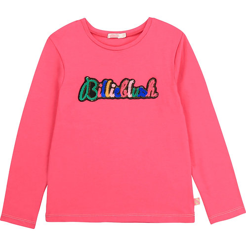 BILLIEBLUSH Cotton t-shirt with patch-Pink