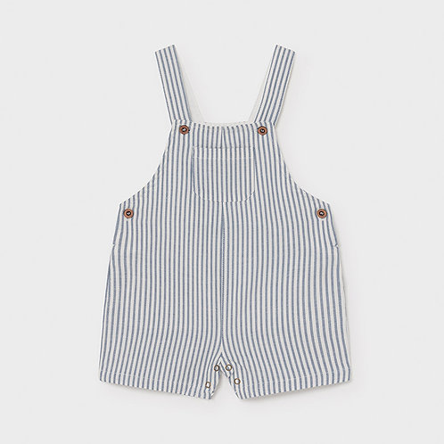 Mayoral linen striped short overall Nautical