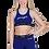 Thumbnail: Pineapple dance wear Girls Panel Racer Bra Top in blue