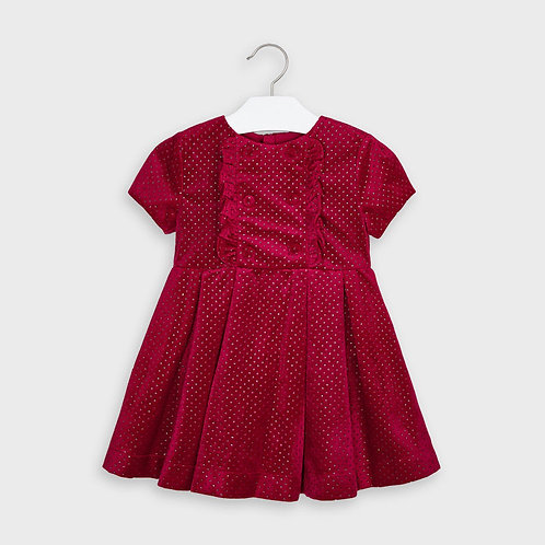 Mayoral Girls Glitter dress in Red